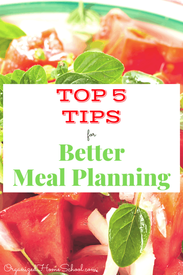 I'm always looking for meal planning tips and ideas to make it less time consuming. Finding dinners that save money for my large family can be a challenge. Here are my top 5 tips for menu planning on a budget.