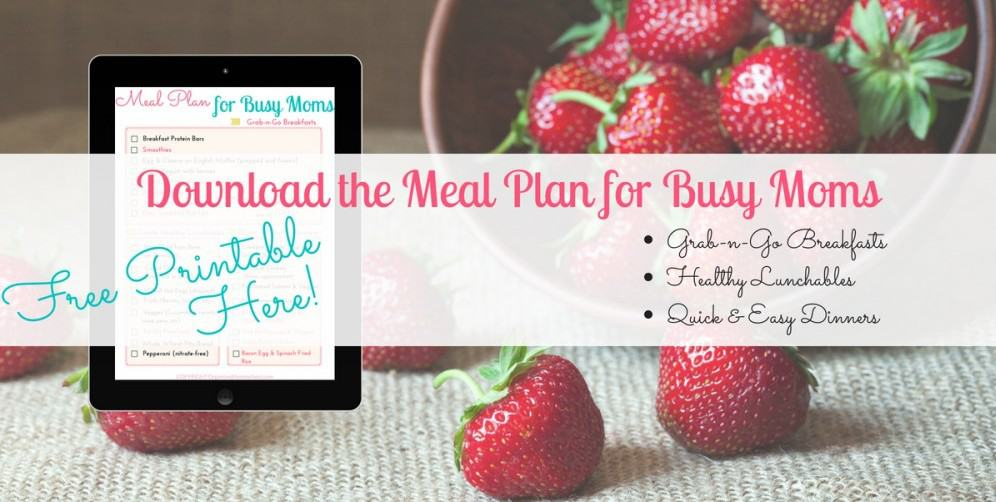 meal plan for busy moms