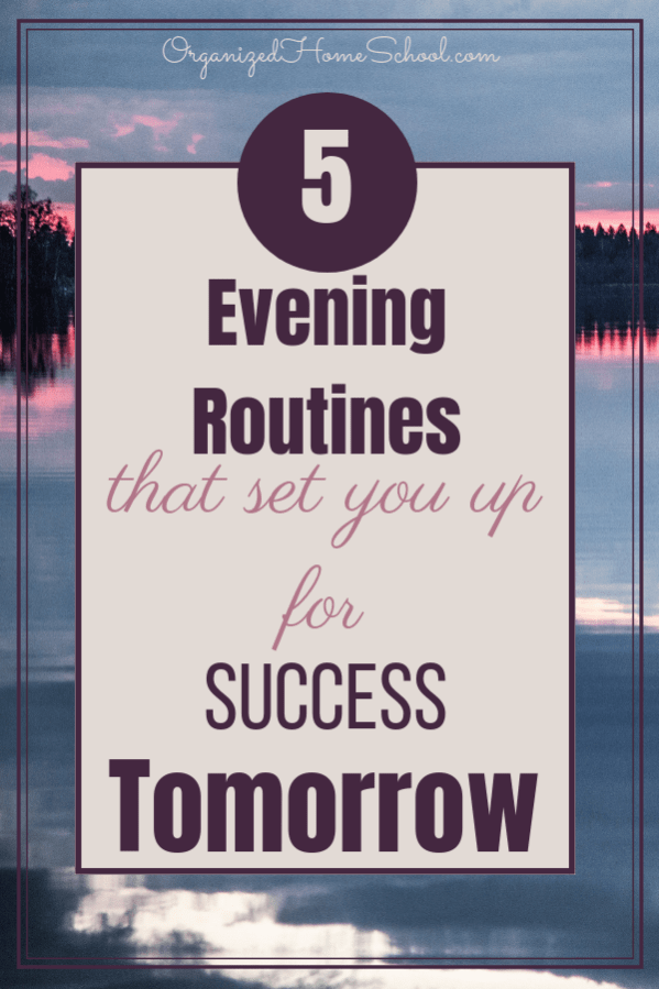 5 Evening Routines That Will Set You Up For Success Tomorrow. Sleeping well and resting during the night is hugely important for your productivity levels in the morning and ability to succeed the next day.  While ensuring a healthy dose of sleep is crucial in helping you make the most out of your day, it is by far not the only strategy you can use. In fact, there are lots of ways to improve your tomorrow by the way you end your today, in a really productive and efficient manner.