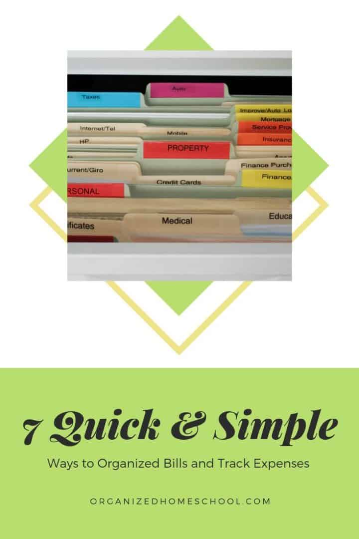 organize bills and track expenses
