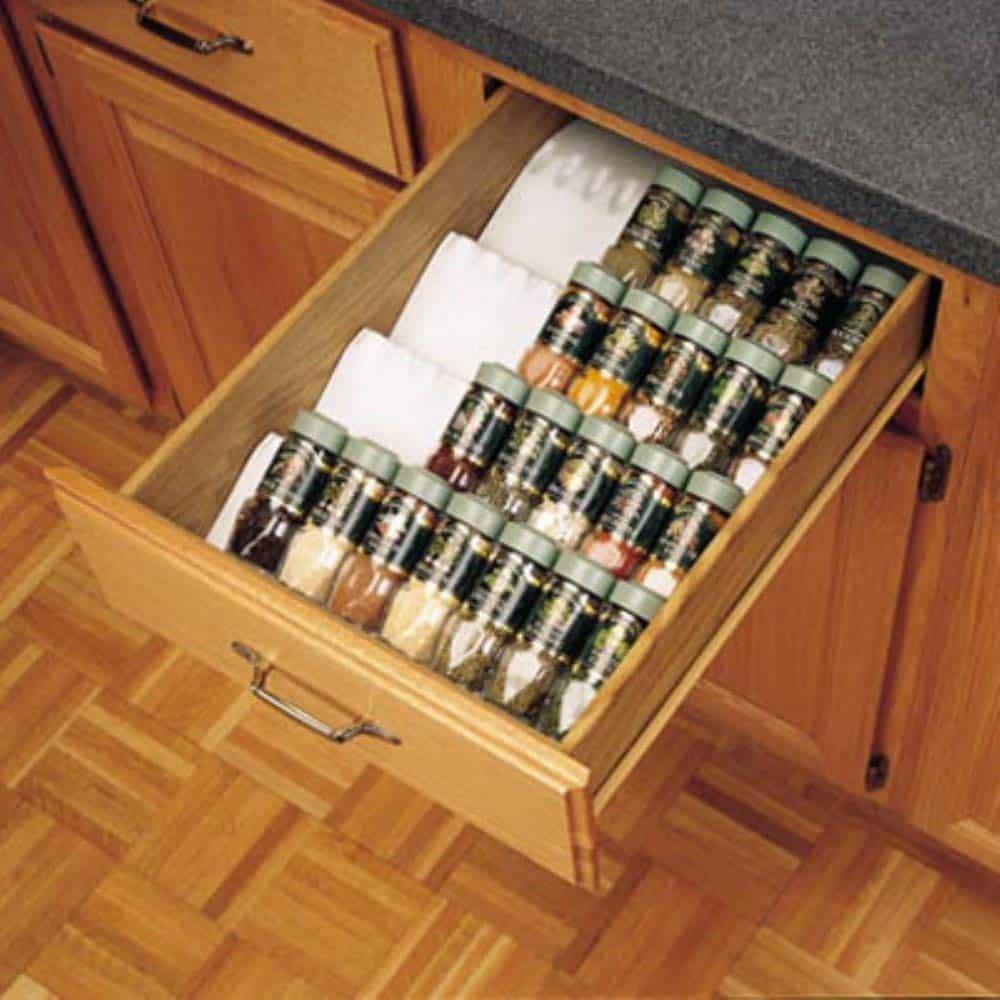 spice tray kitchen drawer organizer