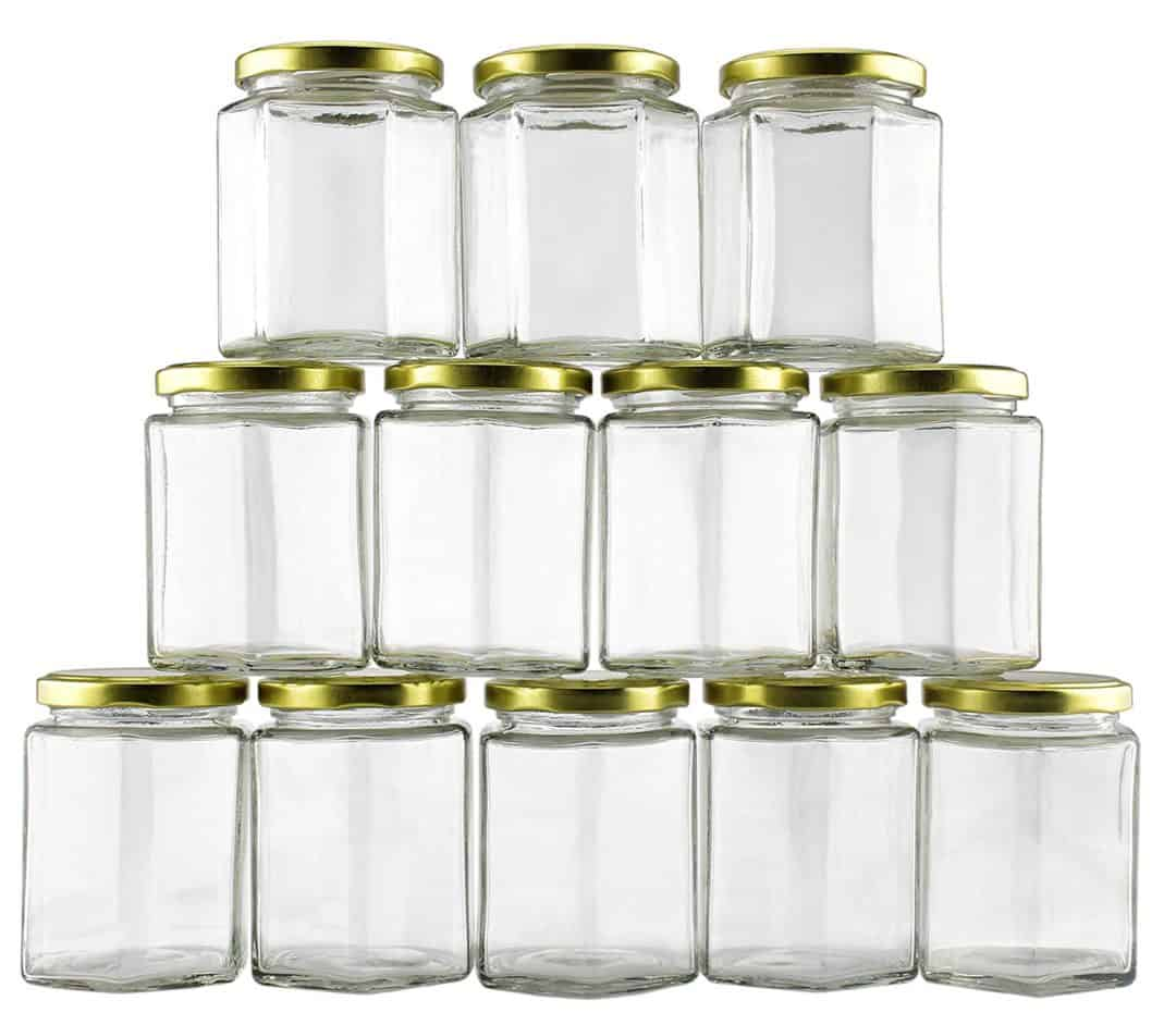 9oz clear glass jars for organizing
