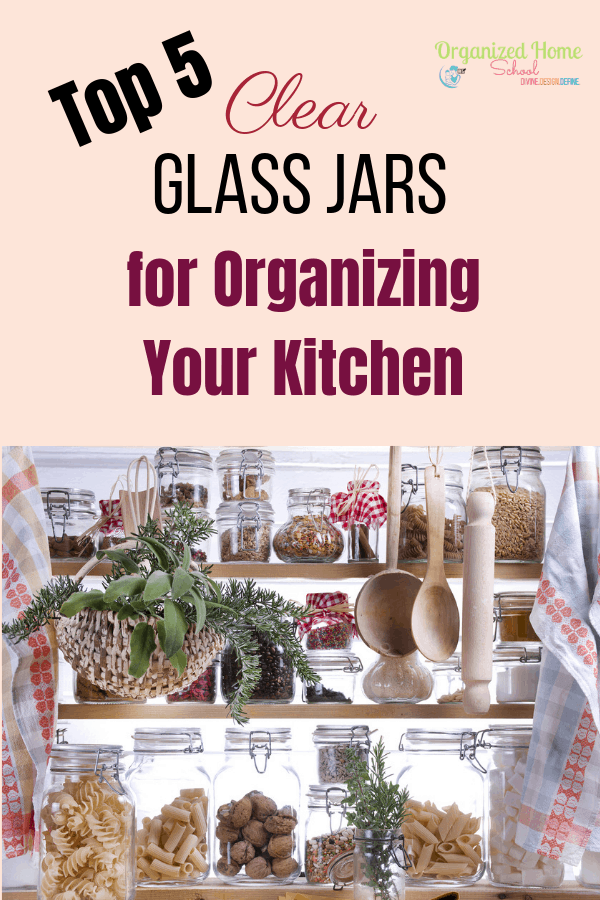 Clear glass jars make the perfect storage containers for kitchens (and really any room, for that matter!). This is because they allow you to store practically anything inside of them while blending in perfectly with the rest of your kitchen. Check out my Top 5 picks for organizing your kitchen with clear glass jars.