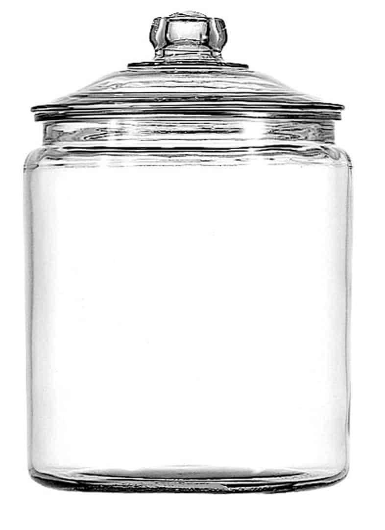 clear glass jar 1 gallon with lid