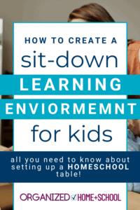 Does your dining table double as your homeschool table? Find out how to set up a system to keep it organized.