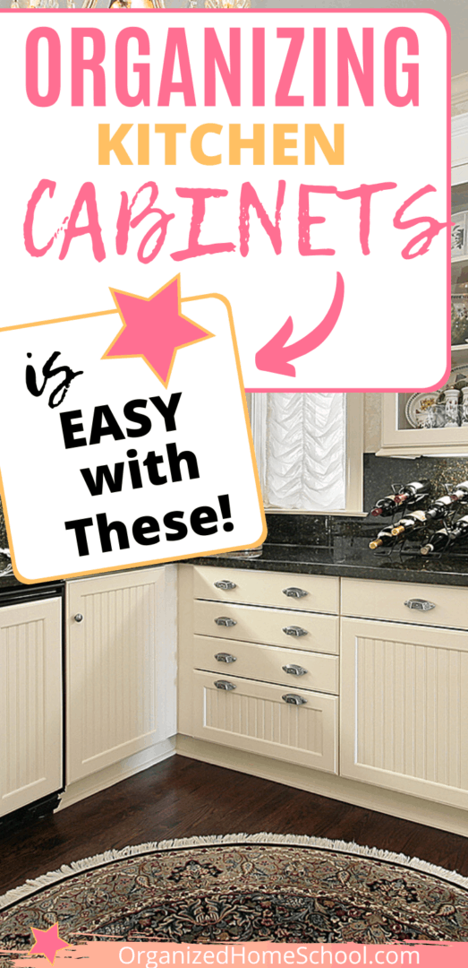 organizing kitchen cabinets is easy