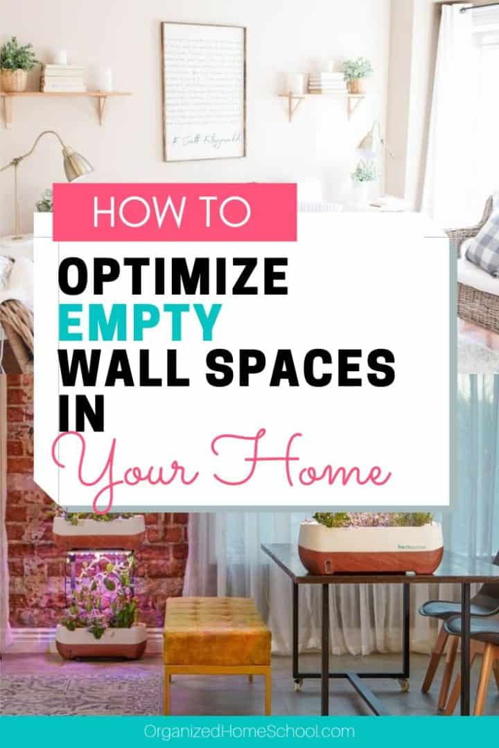 how to optimize empty wall spaces in your home