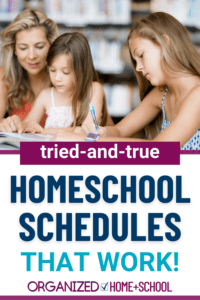 Discover what types of homeschool schedules have worked for other homeschool families so that you can develop a routine for your homeschooling.