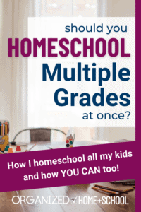 If you've decided to homeschool your kids, it's pretty common for you to need to homeschool multiple grades at once. Here are some strategies that have worked for a homeschool mom of 4 kids.