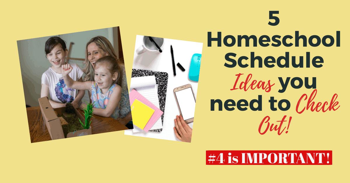 homeschool schedule ideas feature