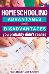 Should you homeschool? That's a big decision. This list of homeschooling pros and cons will help you decide if it's the best thing for your family.