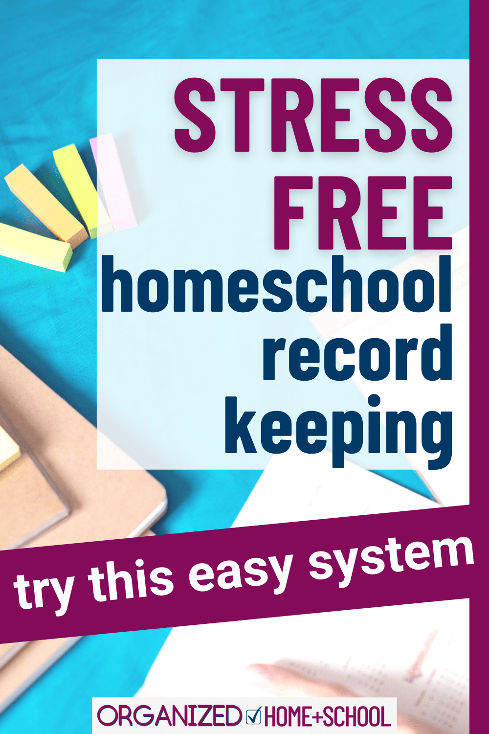 Need a simpler method for keeping track of your kids' home education? Try this easy homeschool record-keeping system.